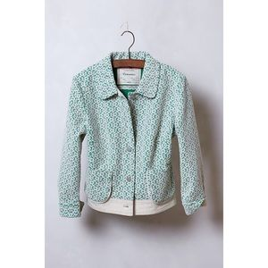 EUC Cartonnier Lattice Meadow Green Lace Jacket S